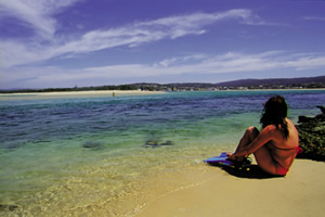 Bar Beach at Merimbula