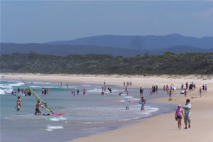 Water sports at Main Beach Merimbula